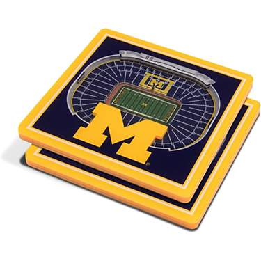 YouTheFan University of Michigan 3-D StadiumViews 2-Piece Coaster Set
