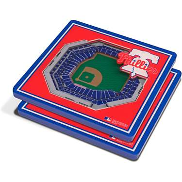 YouTheFan Philadelphia Phillies 3-D Stadium Views 2-Piece Coaster Set