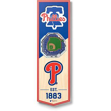 YouTheFan Philadelphia Phillies 6 x 19 in 3-D Stadium Banner