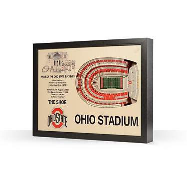 YouTheFan Ohio State University 25-Layer StadiumViews 3-D Wall Art