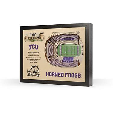 YouTheFan Texas Christian University 25-Layer 3-D Stadium Wall Art
