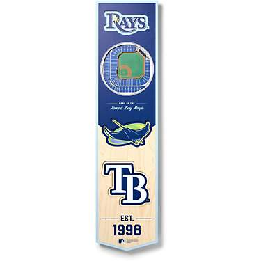 YouTheFan Tampa Bay Rays 8 x 32 in 3-D Stadium Banner