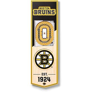 "YouTheFan Boston Bruins 6"" x 19"" 3-D Stadium Banner"