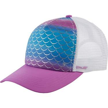 O'Rageous Girls' Mermaid Print Trucker Cap