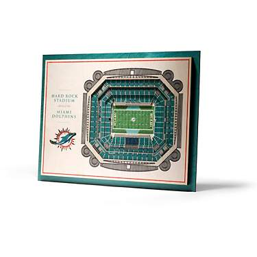 YouTheFan Miami Dolphins 5-Layer StadiumViews 3-D Wall Art