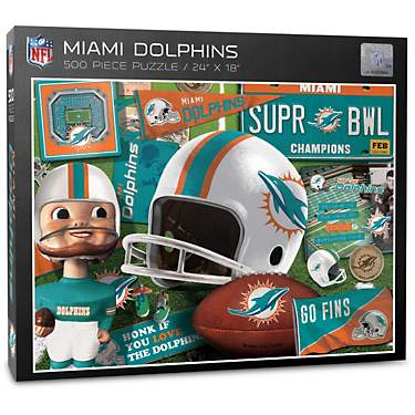 YouTheFan Miami Dolphins Retro Series 500-Piece Puzzle