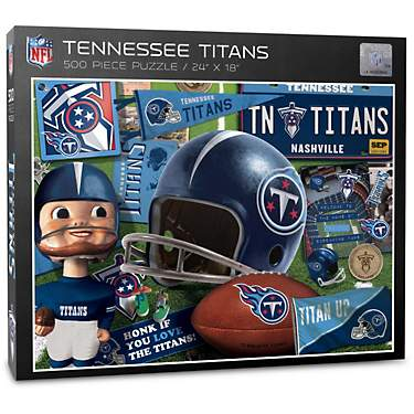 YouTheFan Tennessee Titans Retro Series 500-Piece Jigsaw Puzzle