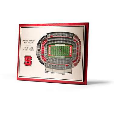 YouTheFan North Carolina State University 5-Layer StadiumViews 3-D Wall Art
