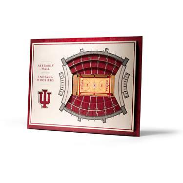 YouTheFan Indiana University 5-Layer StadiumViews 3-D Wall Art
