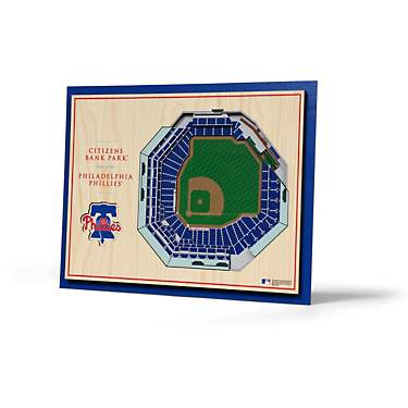 YouTheFan Philadelphia Phillies 5-Layer Stadium Views 3-D Wall Art