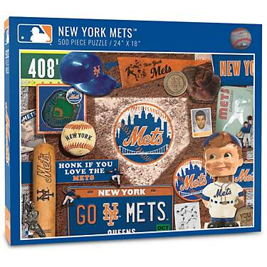 YouTheFan New York Mets Retro Series 500-Piece Puzzle