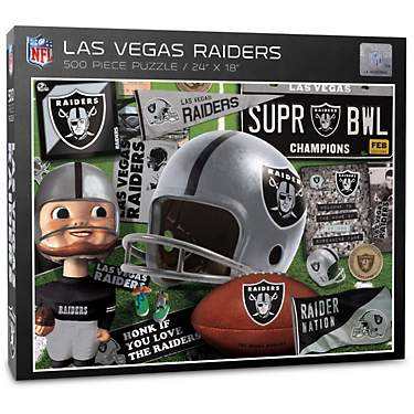 YouTheFan Oakland Raiders Retro Series 500-Piece Jigsaw Puzzle