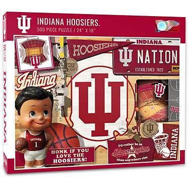 YouTheFan Indiana University Retro Series 500-Piece Puzzle