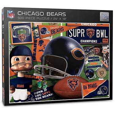YouTheFan Chicago Bears Retro Series 500-Piece Puzzle