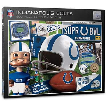 YouTheFan Indianapolis Colts Retro Series 500-Piece Puzzle