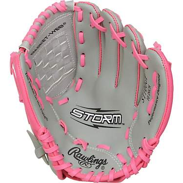 Rawlings Girls' Storm T-ball Softball Glove