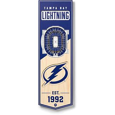"YouTheFan Tampa Bay Lightning 6"" x 19"" 3-D Stadium Banner"
