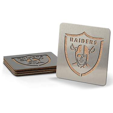 YouTheFan Oakland Raiders 4-Piece Coaster Set