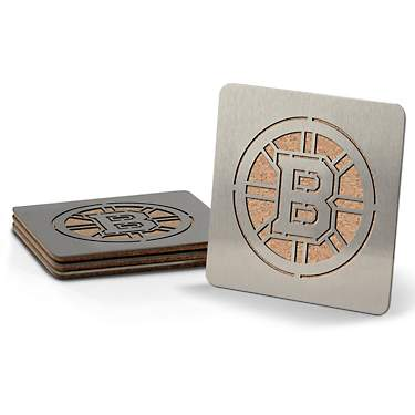 YouTheFan Boston Bruins Boasters Coasters 4-Pack