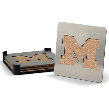 YouTheFan University of Michigan Boasters 4-Piece Coaster Set