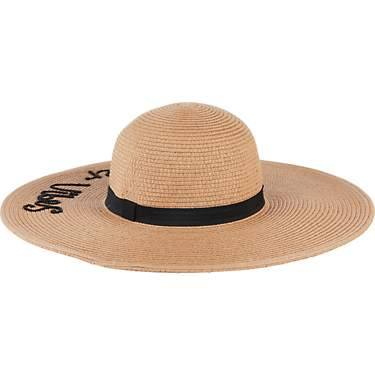 O'Rageous Women's Big Brim Hello Summer Verbiage Sun Hat