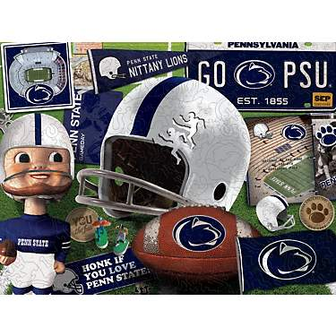 YouTheFan Penn State Wooden Retro Series Puzzle