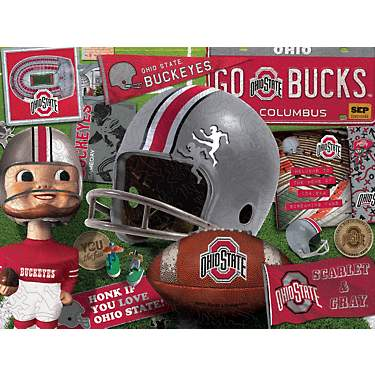 YouTheFan Ohio State University Wooden Retro Series Puzzle