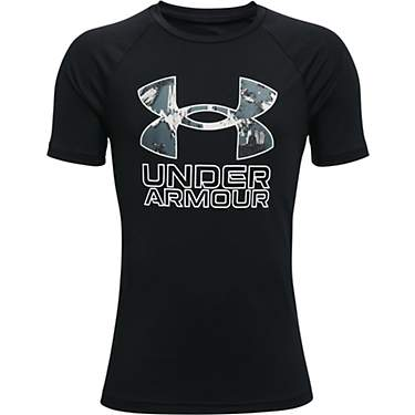 Under Armour Boys' UA Tech Hybrid Printed T-shirt