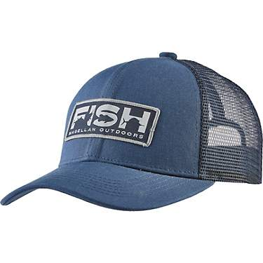 Magellan Outdoors Men's Fish Text Fishing Trucker Hat