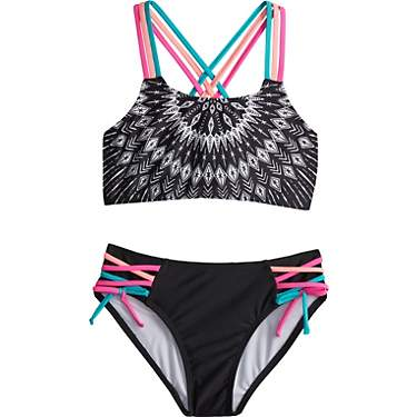 O'Rageous Girls' Tribal Mandala Strap Bikini 2-Piece Set