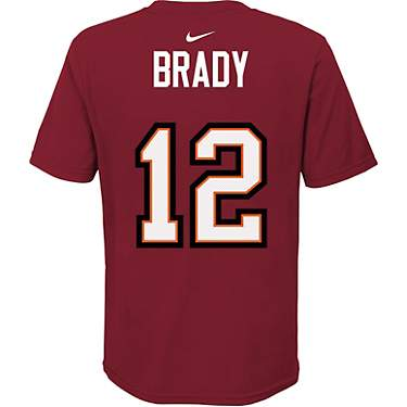Nike Youth Tampa Bay Buccaneers Super Bowl LV Participant Tom Brady #12 Short Sleeve T-shirt