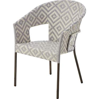 Mosaic Traditional Printed Wicker Stack Chair