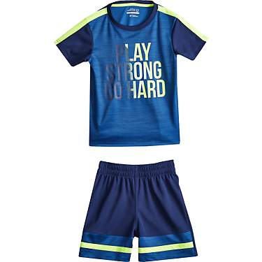 BCG Toddler Boys' Play Strong Go Hard Graphic T-shirt and Shorts Set
