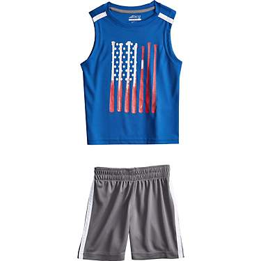 BCG Toddler Boys' Americana Muscle Tank Top Set