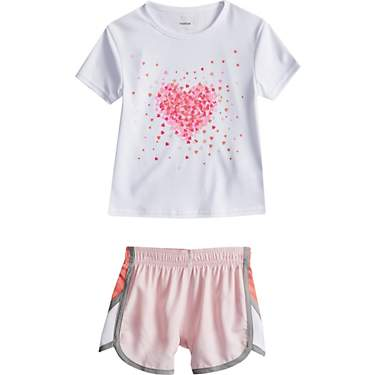 BCG Toddler Girls' Glitter Graphic T-shirt and Shorts Set