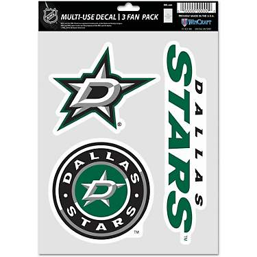 WinCraft Dallas Stars Fan Decals 3-Pack