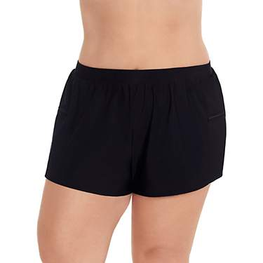 Coastal Cove Women's Plus Double Sided Pocket Swim Shorts