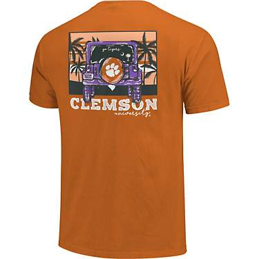 Image One Men's Clemson University Comfort Color Jeep Adventure Short Sleeve T-shirt