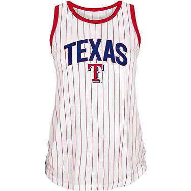 New Era Women's Texas Rangers Pinstripe Tank Top
