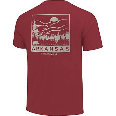 Image One Men's University of Arkansas Comfort Color Scene Sketch Short Sleeve T-shirt