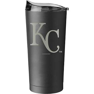 Logo Kansas City Royals 20 oz Black Powder Coat Tumbler