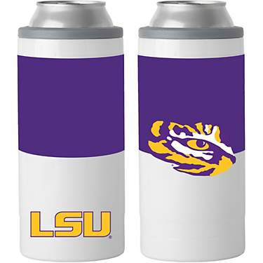 Logo Louisiana State University Colorblock 12 oz Slim Can Coolie