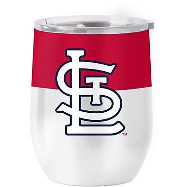 Logo St. Louis Cardinals Colorblock 16 oz Stainless Curved Tumbler