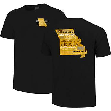 Image One Women's University of Missouri Comfort Color All Type State Short Sleeve T-shirt