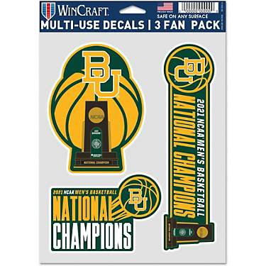 WinCraft Baylor University 21 NCAA Men's Basketball National Champs Fan Decal