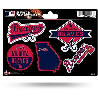 Rico Atlanta Braves 5-Piece Sticker Sheet