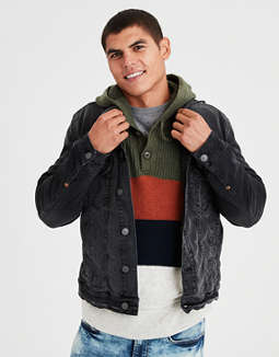 Ae Washed Black Denim Jacket by American Eagle Outfitters