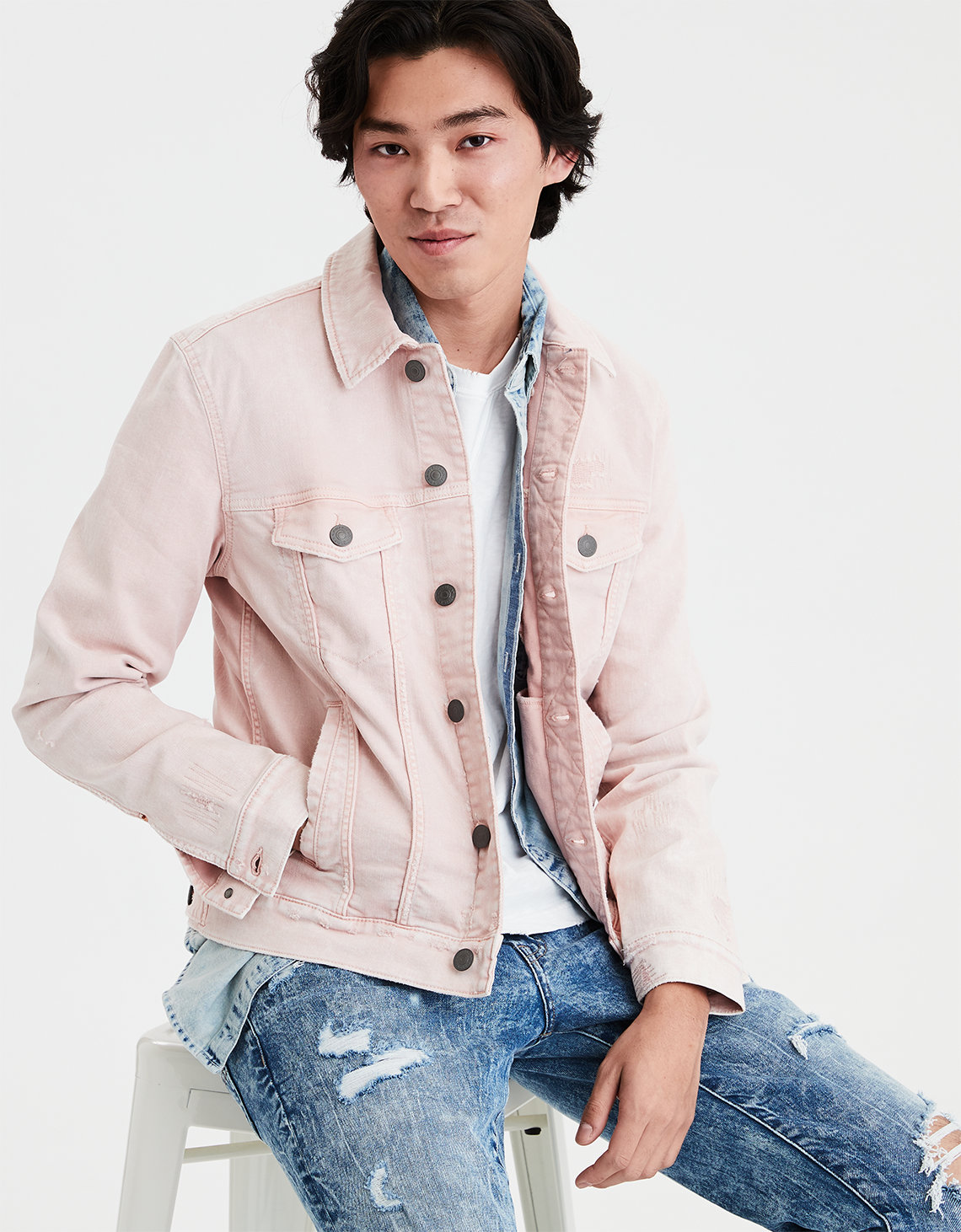 6b13166d68b4 AE Color Denim Jacket. Placeholder image. Product Image