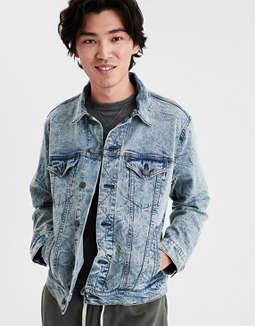 Ae Acid Wash Denim Jacket by American Eagle Outfitters