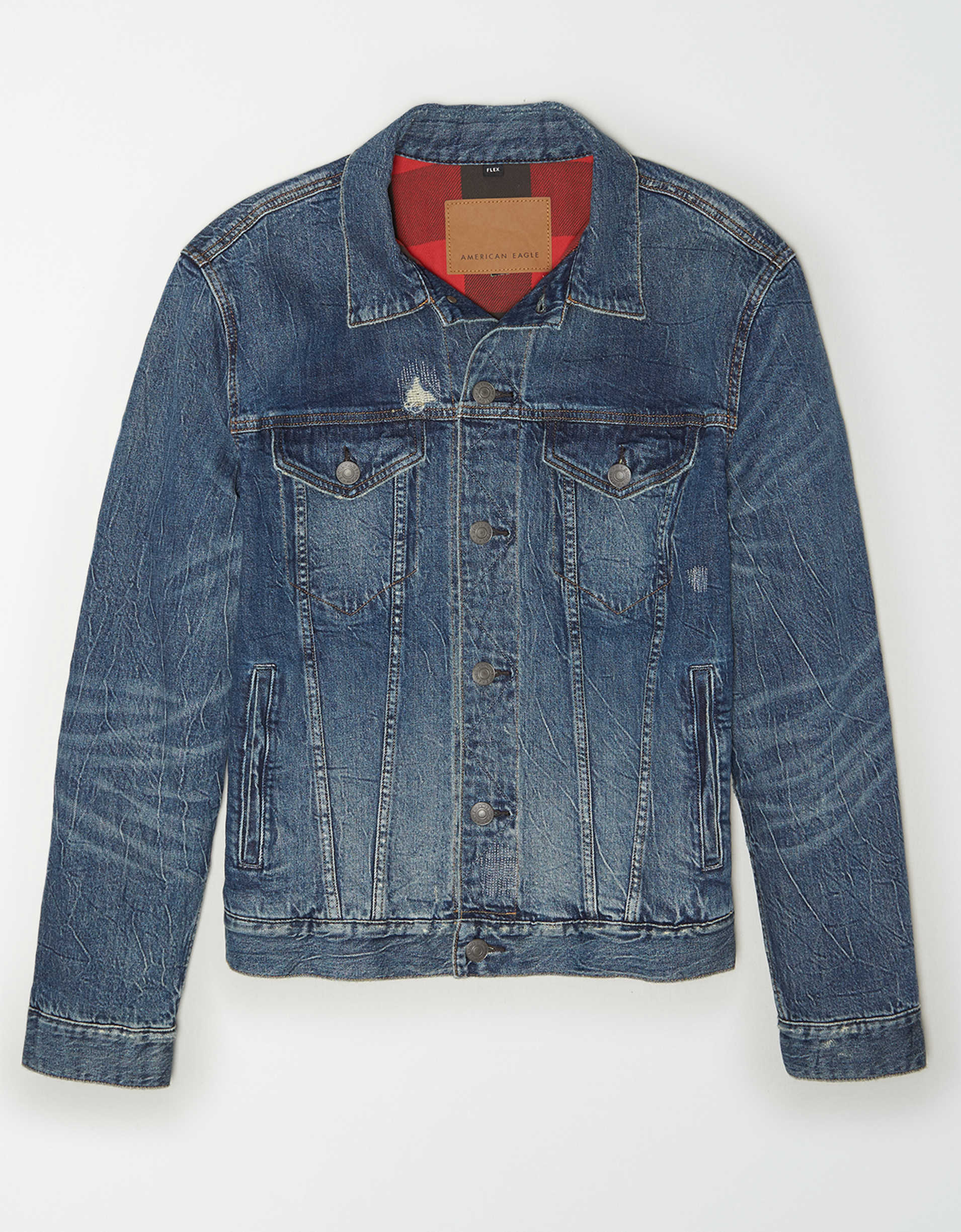 AE Flannel Lined Denim Jacket